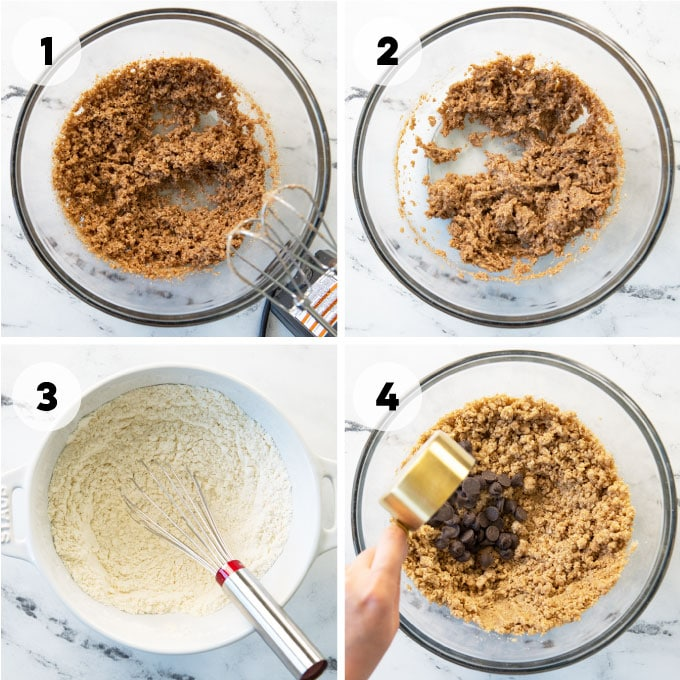 instructions on how to make vegan chocolate chip cookies