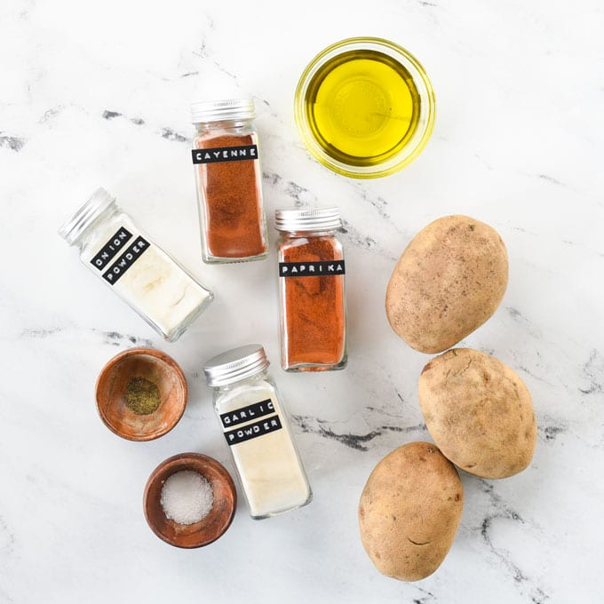ingredients for roasted breakfast potatoes