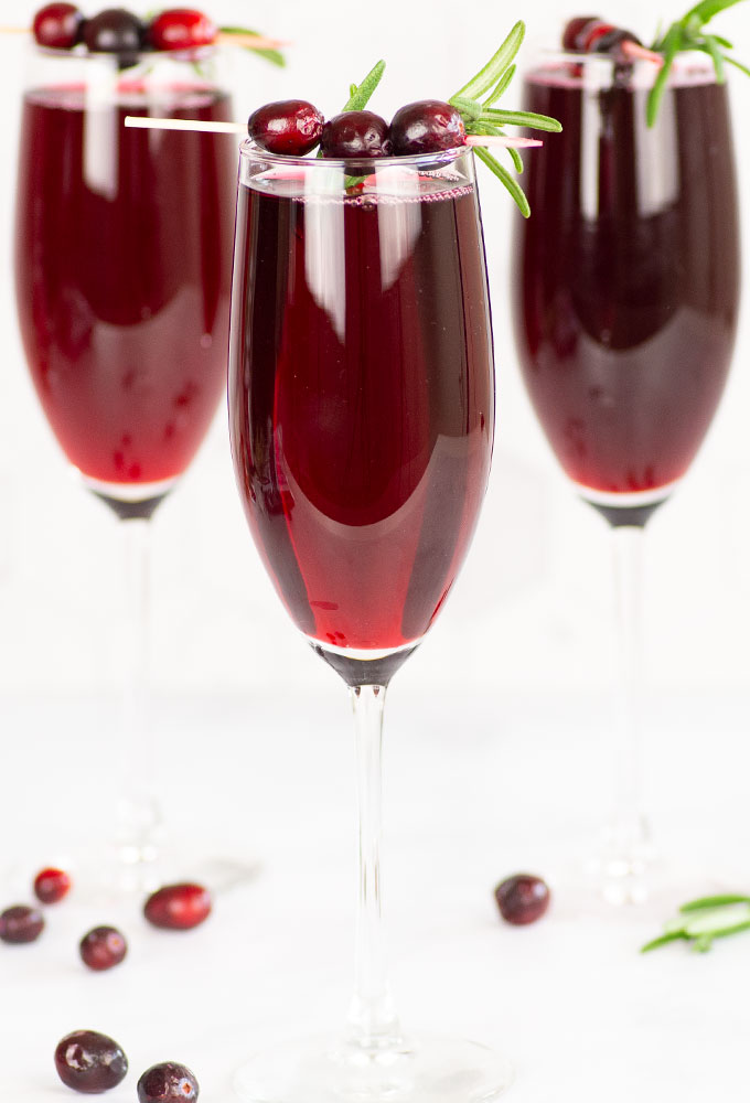 cranberry mimosas for Christmas brunch