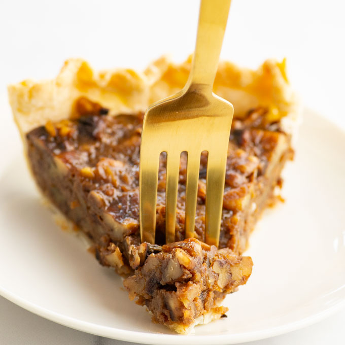 slice of homemade pecan pie
