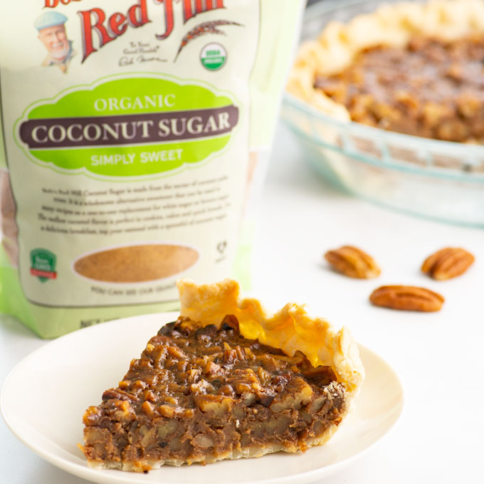 coconut sugar and a slice of pie