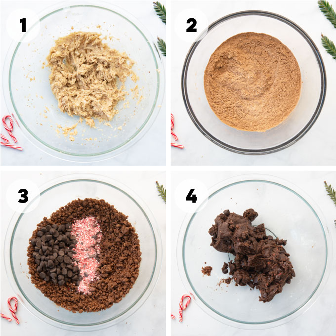 instructions on how to make chocolate peppermint cookies