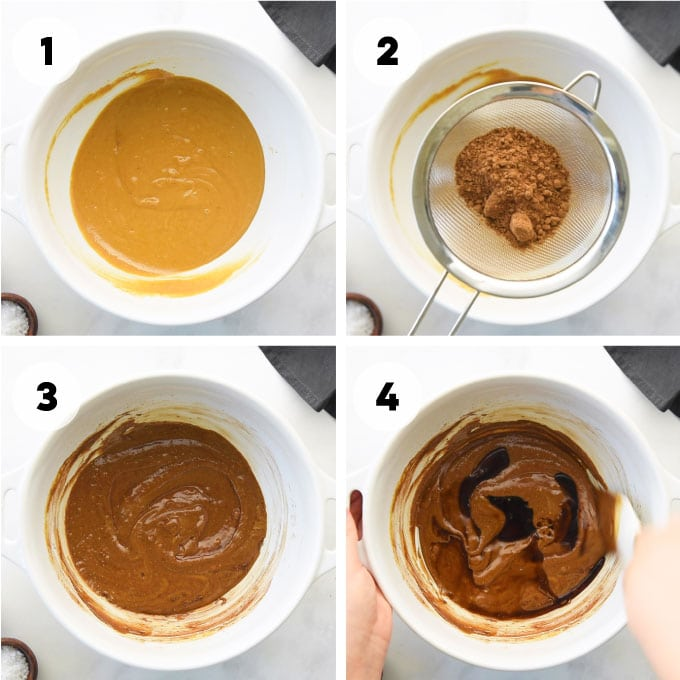 steps for making fudge batter