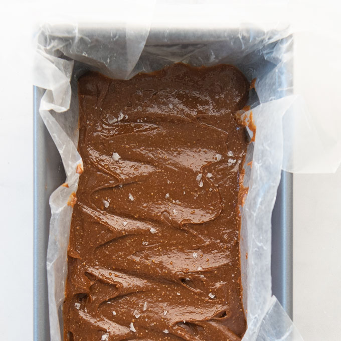 vegan fudge in a pan