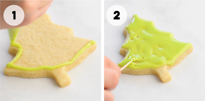 how to fill with royal icing