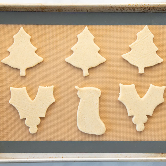 cutout cookies ready to bake