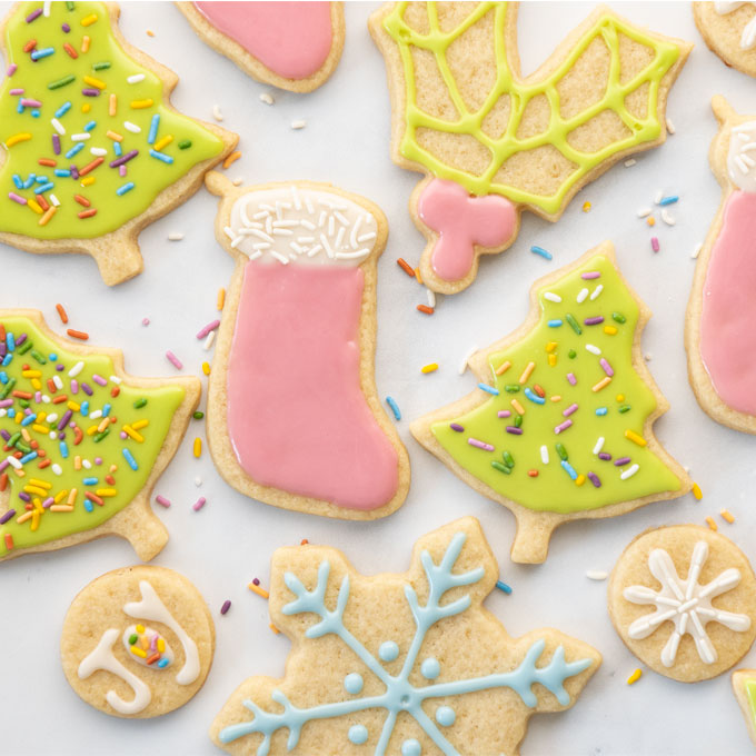 vegan sugar cookies with royal icing