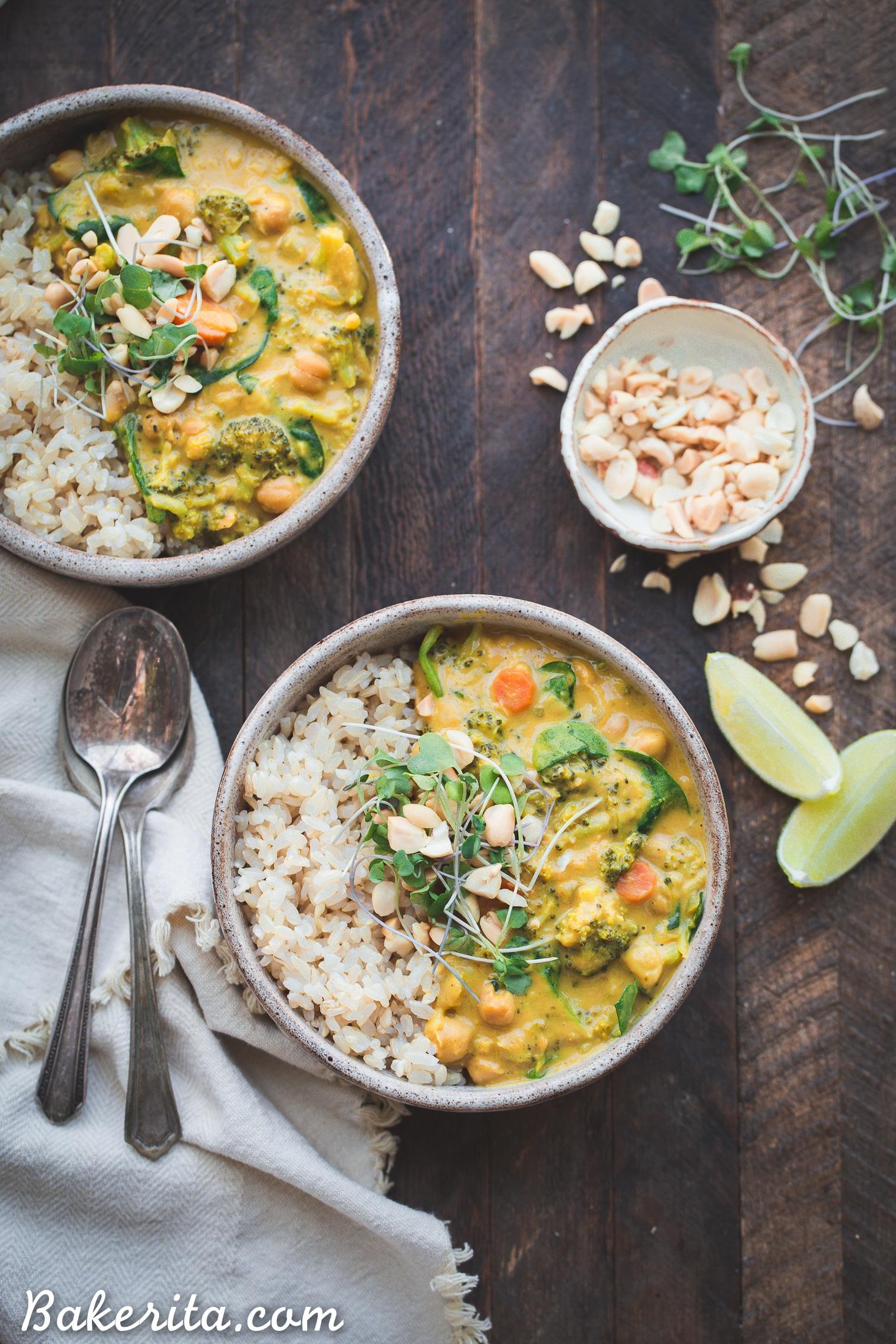 broccoli chickpea curry