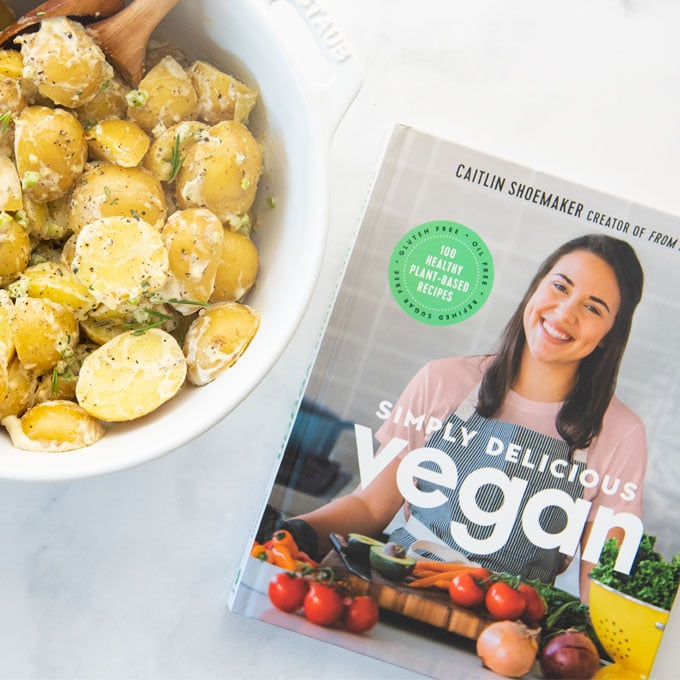 vegan potato salad with simply delicious vegan cookbook