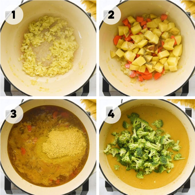 steps for making soup