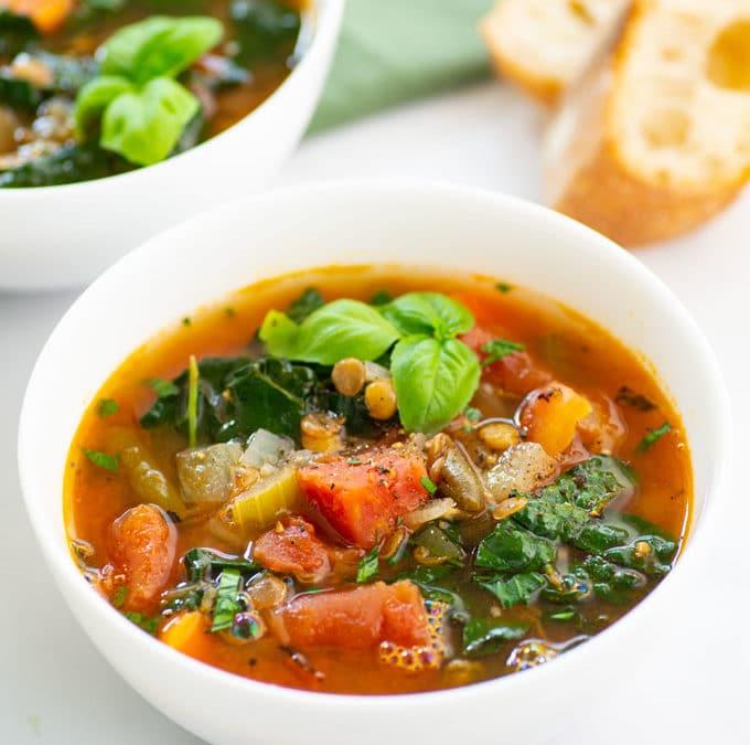 Vegan Vegetable Soup + VIDEO