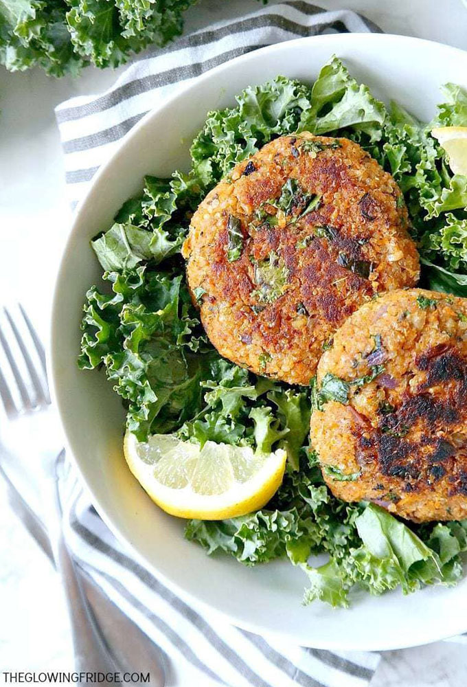 kale quinoa veggie burgers