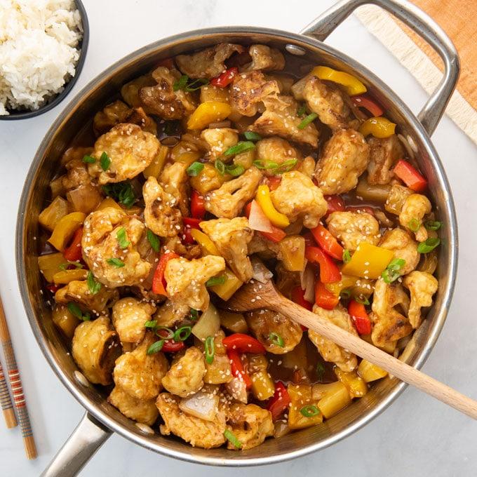 sweet and sour cauliflower recipe