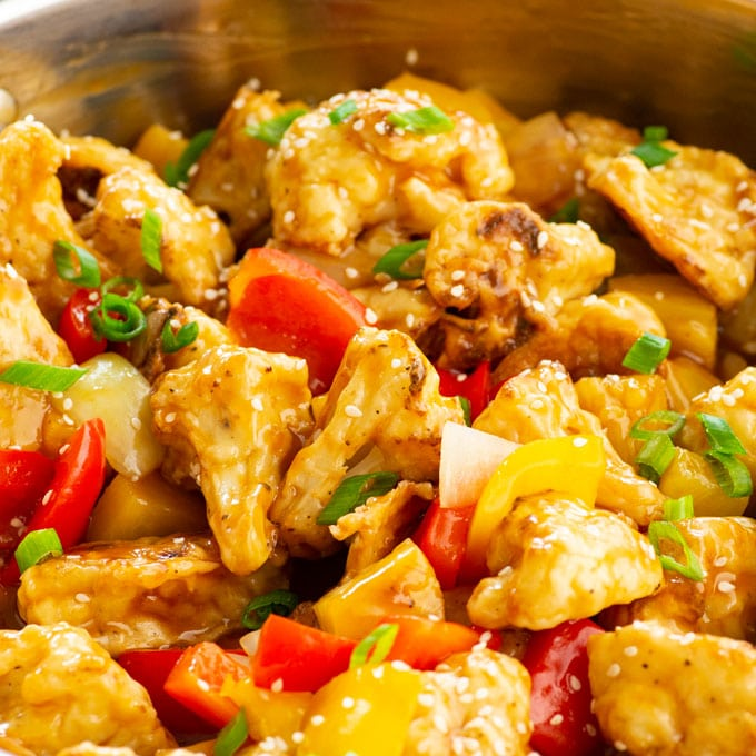 the best vegan sweet and sour recipe with cauliflower