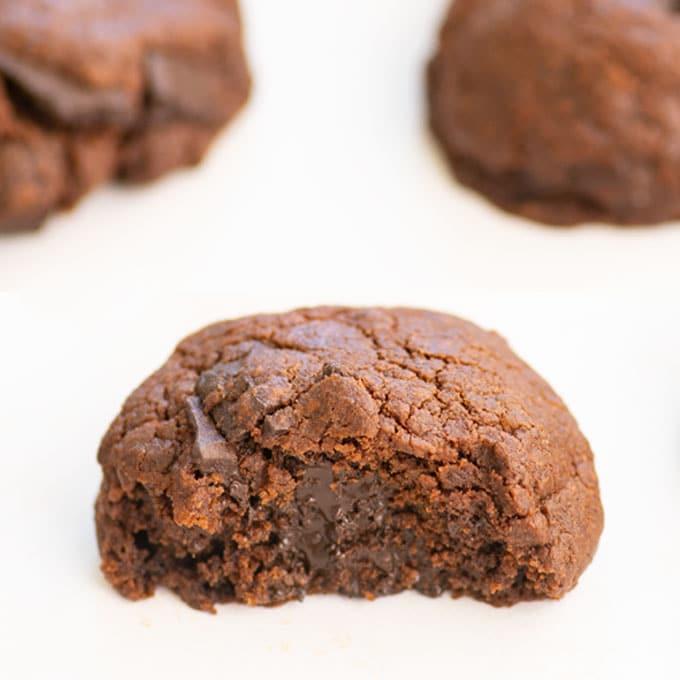 double chocolate chunk cookies