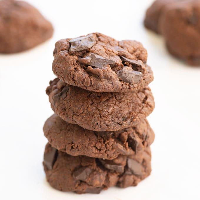 vegan double chocolate cookies