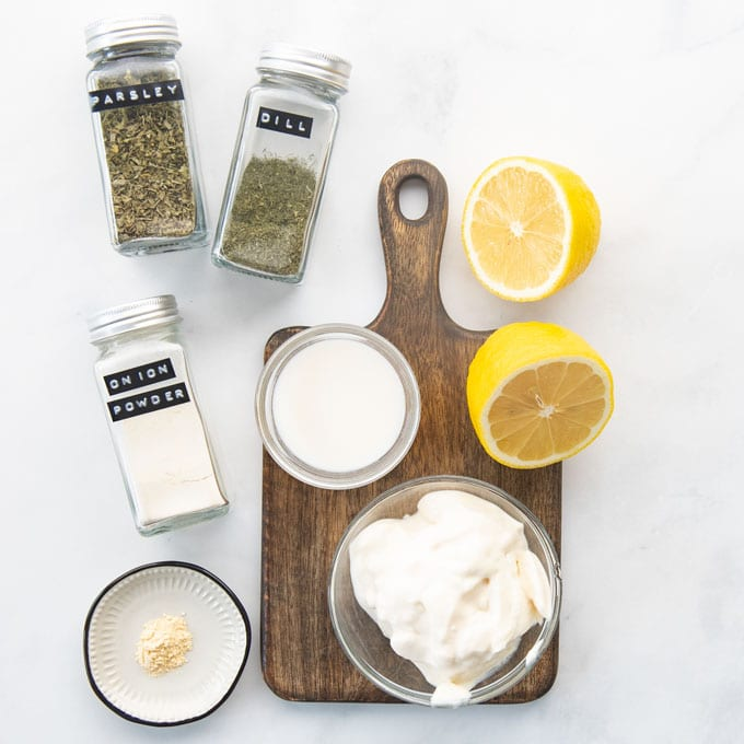 eggless mayo and seasonings