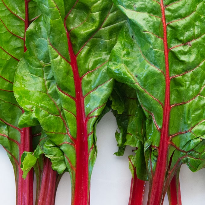 close up of chard