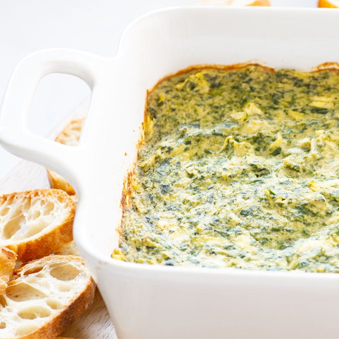 plant-based spinach artichoke dip