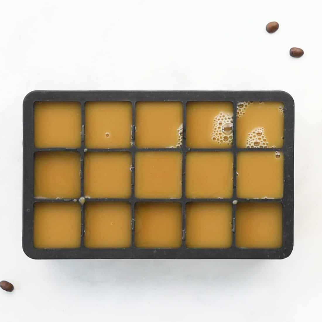 cold brew and oat milk ice cubes