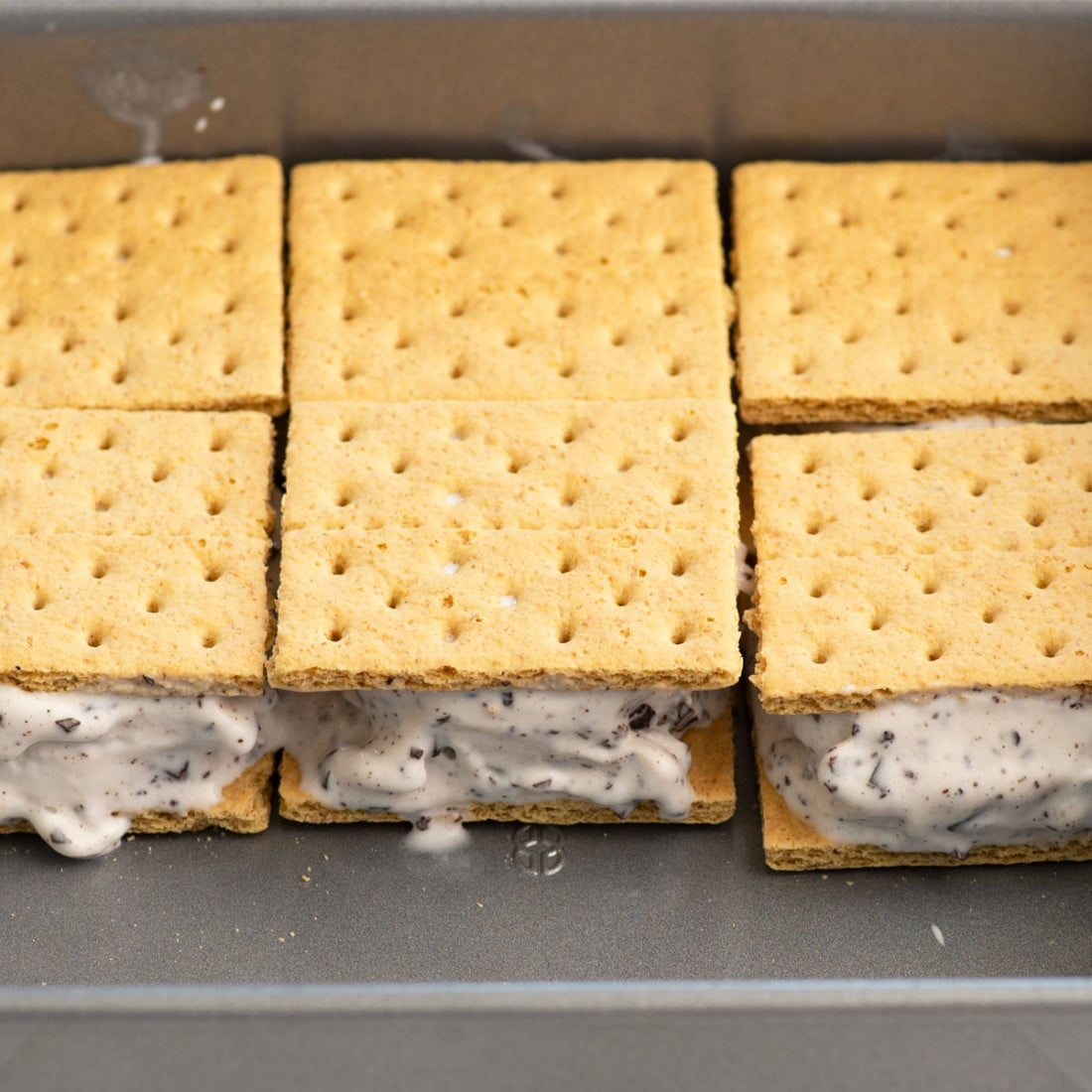 tray for holding the ice cream sandwiches while they are being made
