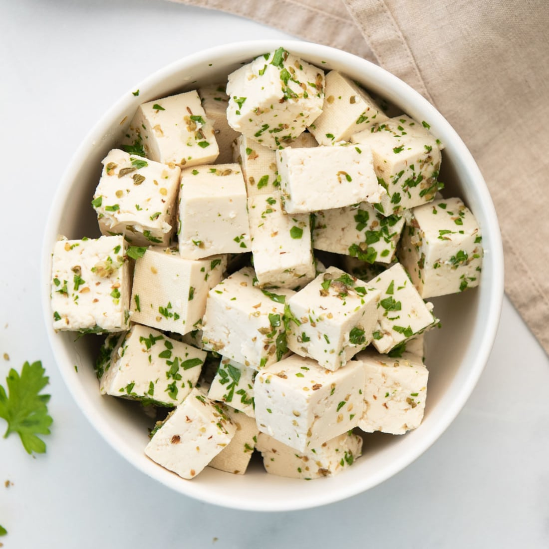 vegan feta cheese recipe made with tofu